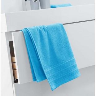 Modrý jednofarebný kúpeľňový ručník