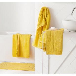 Žltý jednofarebný kúpeľňový ručník