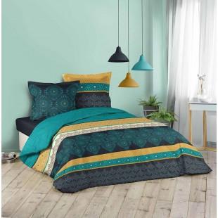 Modrá elegantná vzorovaná posteľná obliečka