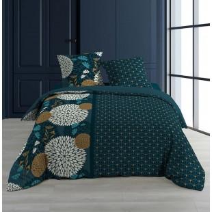 Petrolejová vzorovaná elegantná posteľná obliečka