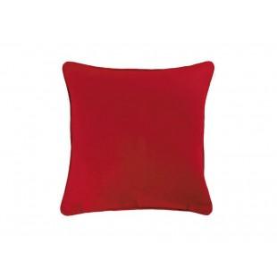Červená bavlnená obliečka na vankúš