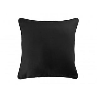 Čierna bavlnená obliečka na vankúš