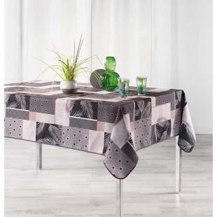 Sivý vzorovaný obrus na stôl s vetvičkami