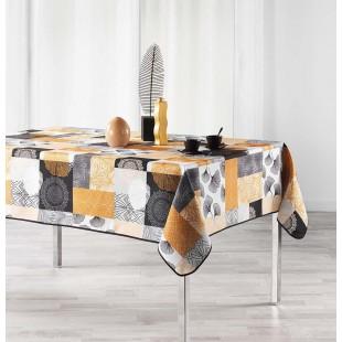 Horčicový vzorovaný obrus na stôl