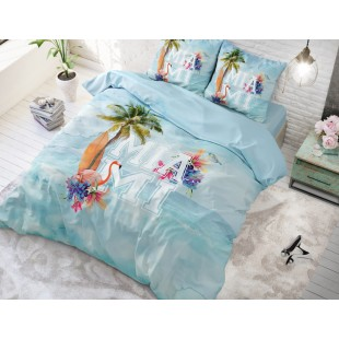 Svetlomodrá bavlnená posteľná obliečka Miami