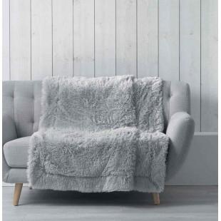 Sivá jednofarebná plyšová deka