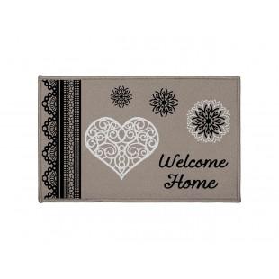 Sivý dekoračný koberček Welcome Home