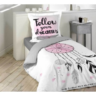 Biela posteľná obliečka s motívom lapača snov