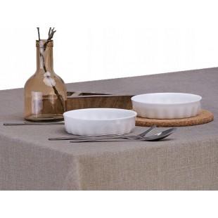 Hnedý jednofarebný obrus na stôl