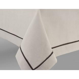 Béžové prestieranie na stôl s ozdobným pásikom