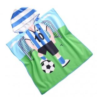 Zelené pončo s motívom futbalistu