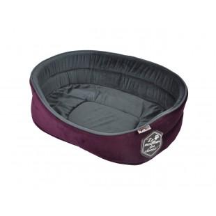 Fialové pohodlné ležovisko pre zvieratká