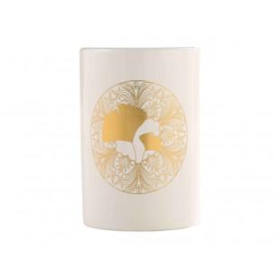 Biely kúpeľňový pohárik so zlatým motívom