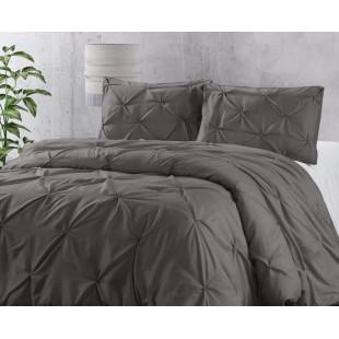 Tmavosivá posteľná obliečka s prešívaním