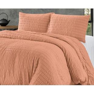 Oranžová prešívaná posteľná obliečka