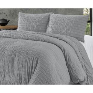 Sivá prešívaná posteľná obliečka