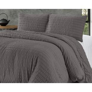 Tmavosivá prešívaná posteľná obliečka