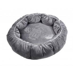 Sivé luxusné ležovisko pre zvieratká