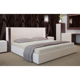 Svetlosivé posteľné prestieradlo z bavlneného saténu s gumičkou