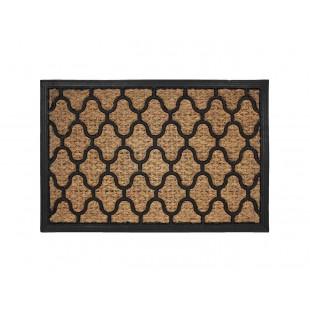 Vzorovaná obdĺžniková rohožka z kokosového vlákna