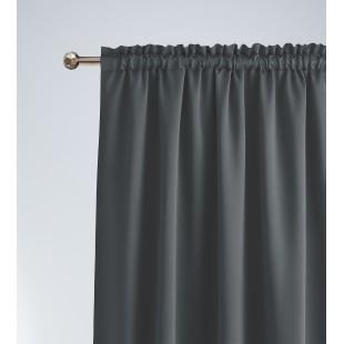 Zatemňujúci jednofarebný tmavosivý záves s riasiacou páskou