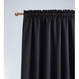 Zatemňujúci jednofarebný čierny záves s riasiacou páskou