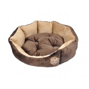 Hnedé luxusné ležovisko pre zvieratká