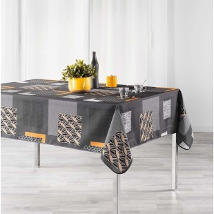 Tmavosivý vzorovaný obrus na stôl