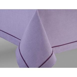 Fialové prestieranie na stôl s ozdobným pásikom