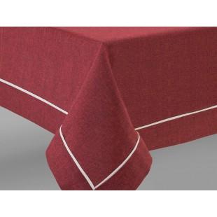 Bordové prestieranie na stôl s ozdobným pásikom
