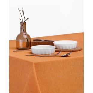 Oranžový jednofarebný obrus na stôl