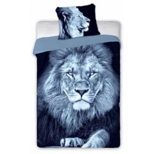 Sivá posteľná obliečka s motívom leva