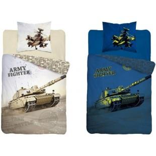 Béžová v tme svietiaca posteľná obliečka s tankom