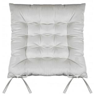 Sivá prešívaná zamatová poduška na stoličku