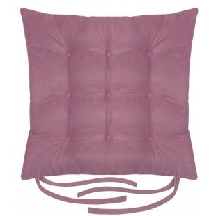 Svetlofialová jednofarebná prešívaná poduška na stoličku