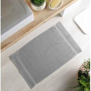 Sivý bavlnený kúpeľňový koberček