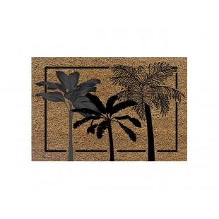 Rohožka z kokosového vlákna s palmami