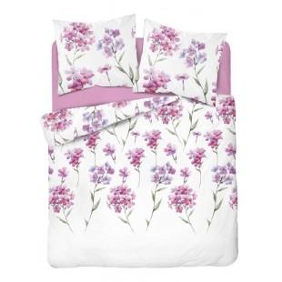 Biela posteľná obliečka s ružovými kvetmi