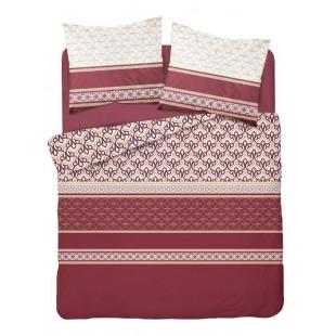 Bordová vzorovaná posteľná obliečka
