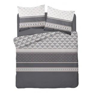 Tmavosivá vzorovaná posteľná obliečka