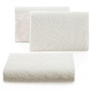 Krémový vzorovaný jednofarebný ručník