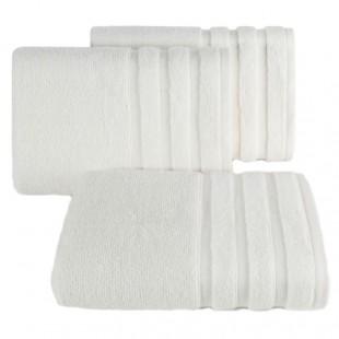 Krémový kúpeľňový ručník s ozdobnými pruhmi