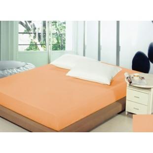 Oranžové bavlnené prestieradlo na posteľ s gumičkou