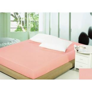 Ružové bavlnené prestieradlo na posteľ s gumičkou
