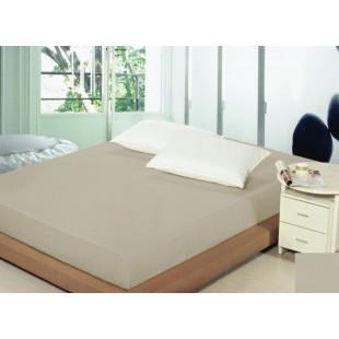 Svetlosivé bavlnené prestieradlo na posteľ s gumičkou