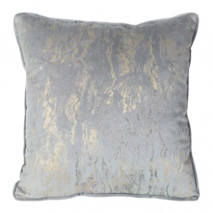 Sivá dekoračná obliečka s jemným zlatým zdobením