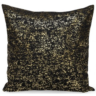 Čierno-zlatá dekoračná obliečka na vankúš