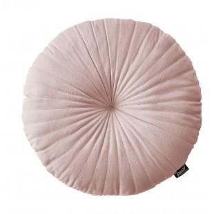 Ružový zamatový elegantný dekoračný vankúš
