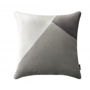 Sivo-strieborná luxusná zamatová dekoračná obliečka na vankúš