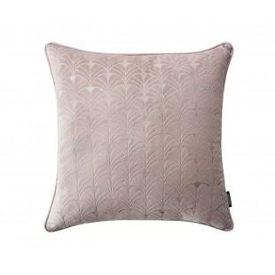 Ružová zamatová obliečka so strieborným vzorom